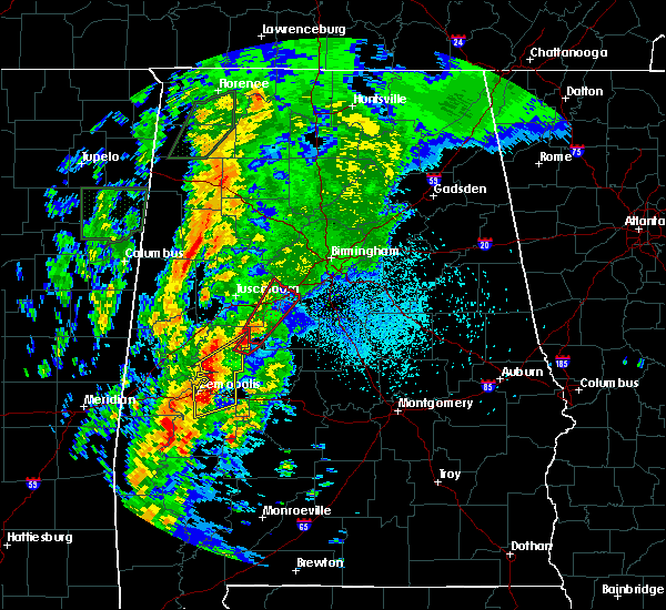 Radar Image for Severe Thunderstorms near Tuscaloosa, AL at 4/14/2019 2:06 AM CDT