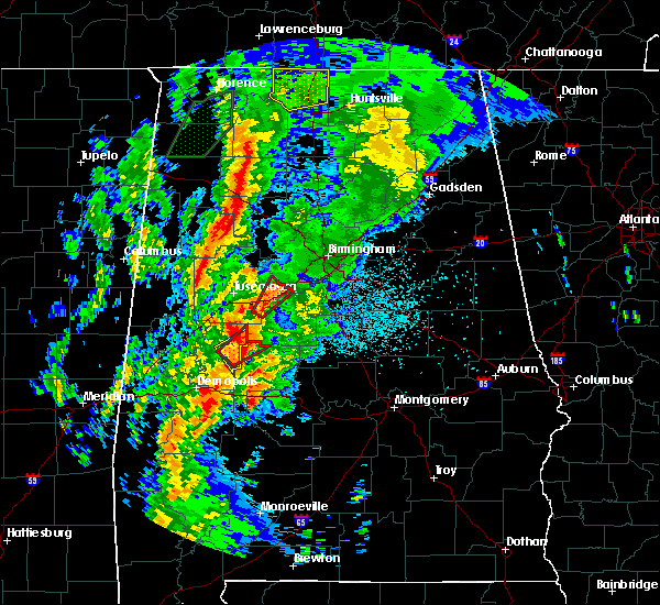 Radar Image for Severe Thunderstorms near Brookwood, AL at 4/14/2019 2:34 AM CDT