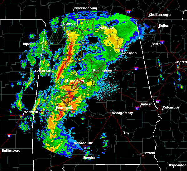 Radar Image for Severe Thunderstorms near Nauvoo, AL at 4/14/2019 2:37 AM CDT