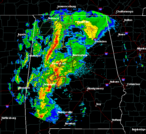 Radar Image for Severe Thunderstorms near Tuscaloosa, AL at 4/14/2019 2:46 AM CDT