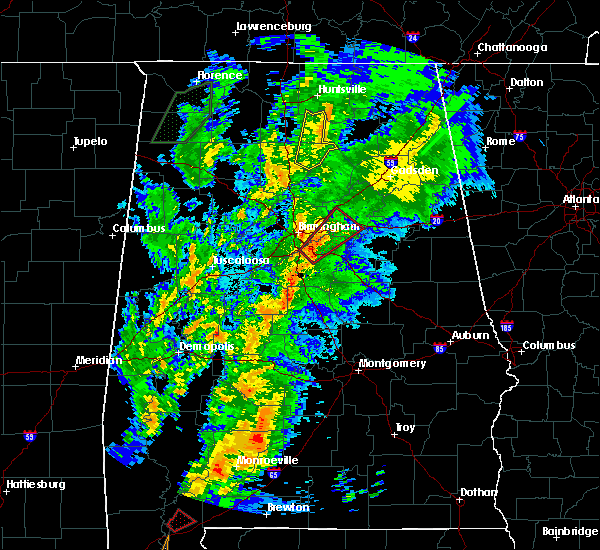 Radar Image for Severe Thunderstorms near Pell City, AL at 4/14/2019 4:08 AM CDT