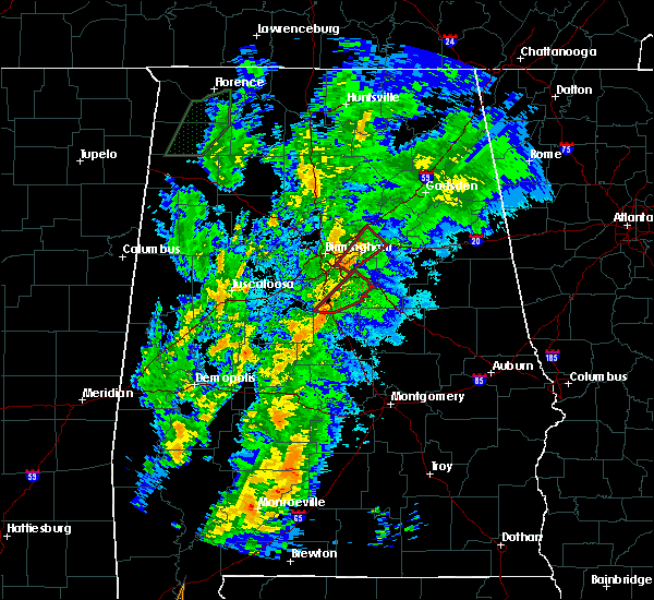 Radar Image for Severe Thunderstorms near Pell City, AL at 4/14/2019 4:21 AM CDT