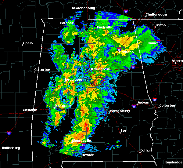 Radar Image for Severe Thunderstorms near Westover, AL at 4/14/2019 4:36 AM CDT
