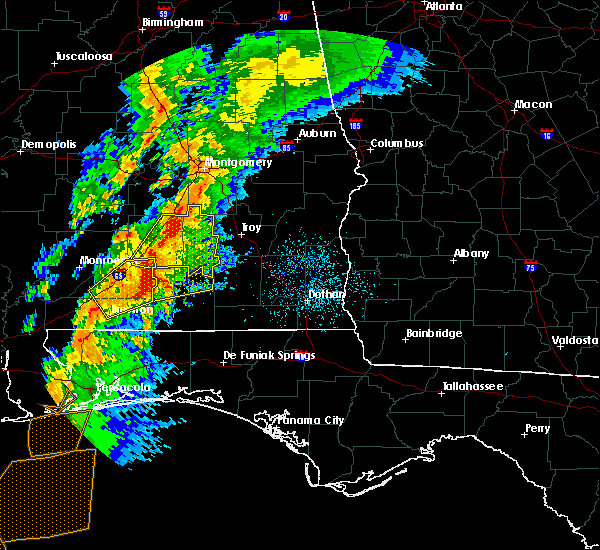 Radar Image for Severe Thunderstorms near Gantt, AL at 4/14/2019 5:42 AM CDT