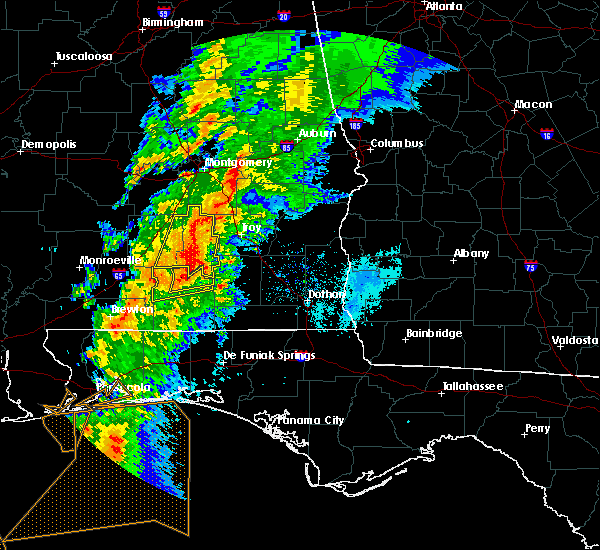 Radar Image for Severe Thunderstorms near Gantt, AL at 4/14/2019 6:27 AM CDT