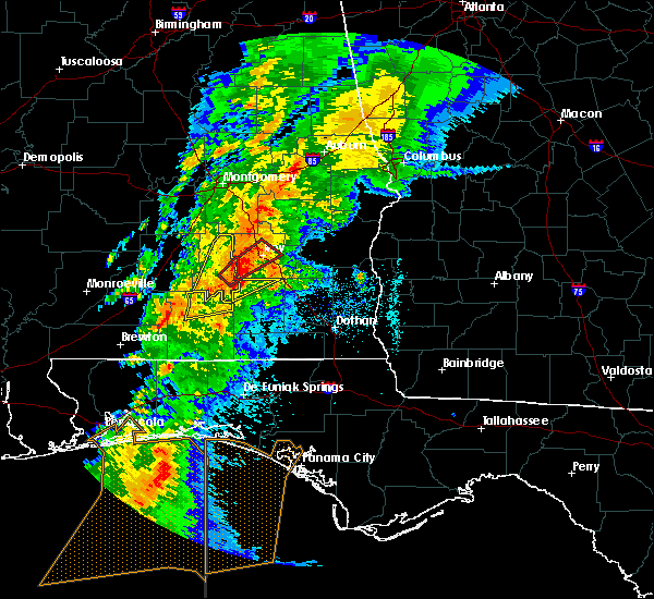 Radar Image for Severe Thunderstorms near Gantt, AL at 4/14/2019 6:55 AM CDT