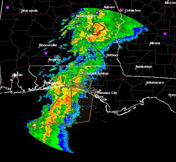 Radar Image for Severe Thunderstorms near Ponce de Leon, FL at 4/14/2019 7:47 AM CDT