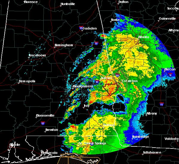Radar Image for Severe Thunderstorms near Columbus, GA at 4/14/2019 9:45 AM EDT