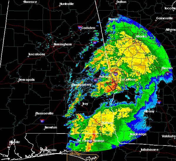 Radar Image for Severe Thunderstorms near Columbus, GA at 4/14/2019 10:09 AM EDT