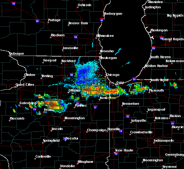 Radar Image for Severe Thunderstorms near Lockport, IL at 6/10/2015 7:36 PM CDT