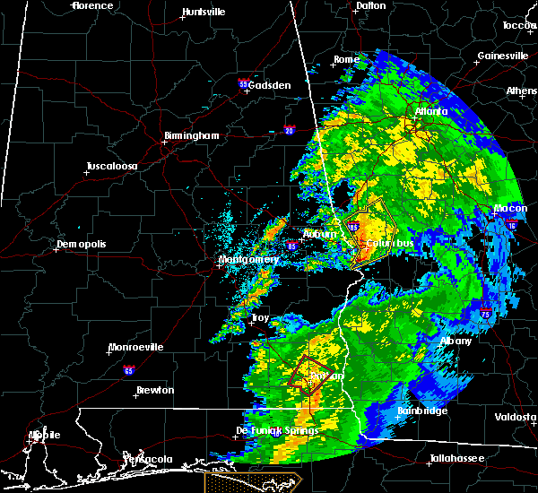 Radar Image for Severe Thunderstorms near Manchester, GA at 4/14/2019 10:36 AM EDT