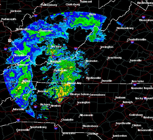 Radar Image for Severe Thunderstorms near Statesville, NC at 4/14/2019 11:15 AM EDT
