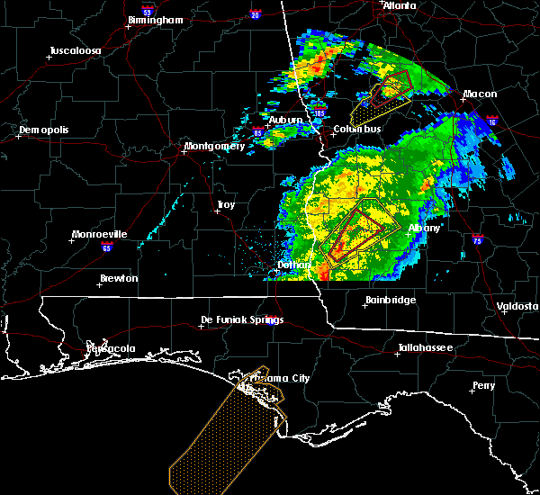 Radar Image for Severe Thunderstorms near Shellman, GA at 4/14/2019 11:27 AM EDT
