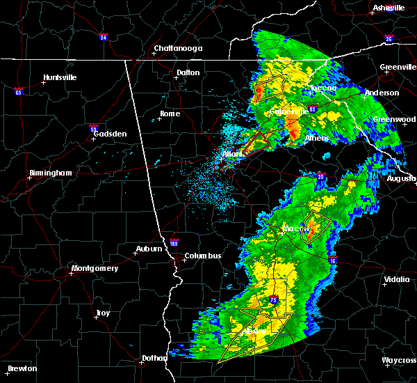 Radar Image for Severe Thunderstorms near Buford, GA at 4/14/2019 1:05 PM EDT