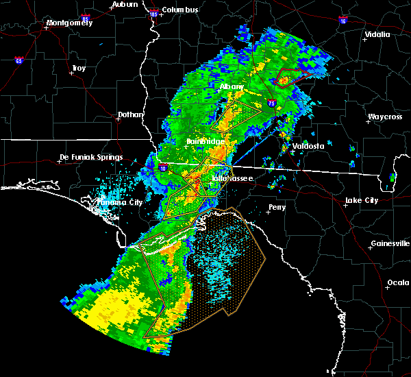 Radar Image for Severe Thunderstorms near Woodville, FL at 4/14/2019 2:06 PM EDT