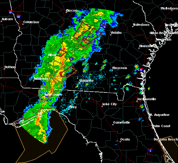 Radar Image for Severe Thunderstorms near Moultrie, GA at 4/14/2019 2:43 PM EDT