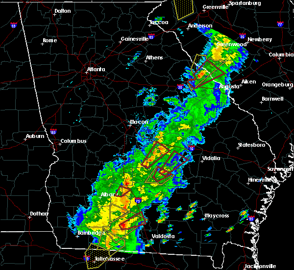 Radar Image for Severe Thunderstorms near Cadwell, GA at 4/14/2019 2:44 PM EDT