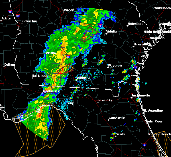 Radar Image for Severe Thunderstorms near Moultrie, GA at 4/14/2019 2:53 PM EDT