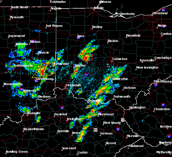 Radar Image for Severe Thunderstorms near Springfield, OH at 4/14/2019 3:20 PM EDT