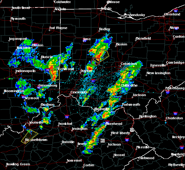 Radar Image for Severe Thunderstorms near Urbana, OH at 4/14/2019 3:39 PM EDT
