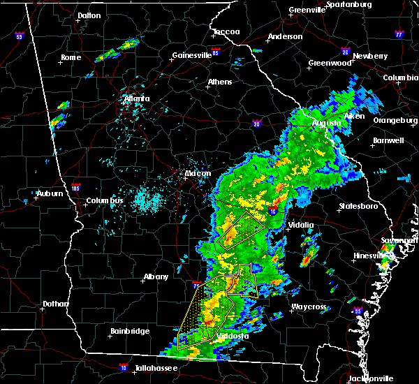 Radar Image for Severe Thunderstorms near Eastman, GA at 4/14/2019 3:55 PM EDT