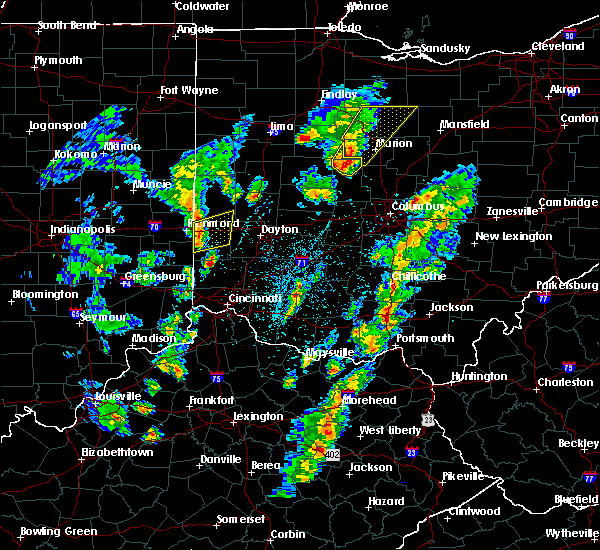 Radar Image for Severe Thunderstorms near West Alexandria, OH at 4/14/2019 4:03 PM EDT