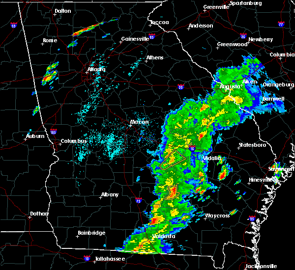 Radar Image for Severe Thunderstorms near Chauncey, GA at 4/14/2019 4:07 PM EDT