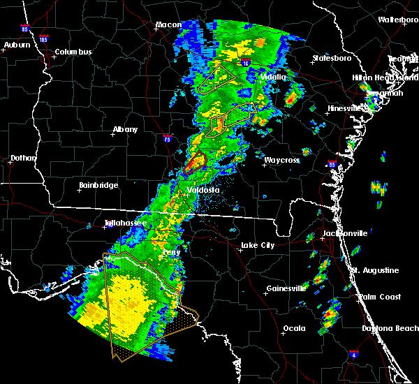 Radar Image for Severe Thunderstorms near Nashville, GA at 4/14/2019 4:13 PM EDT