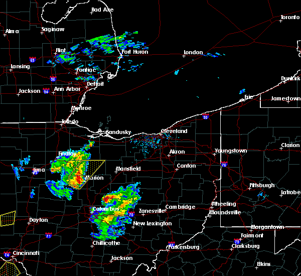 Radar Image for Severe Thunderstorms near Chatfield, OH at 4/14/2019 4:13 PM EDT