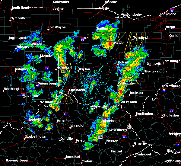 Radar Image for Severe Thunderstorms near Logan, OH at 4/14/2019 4:16 PM EDT