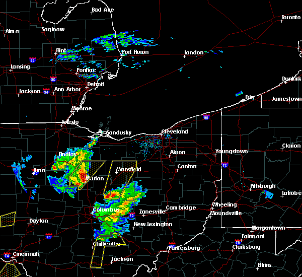 Radar Image for Severe Thunderstorms near Lucas, OH at 4/14/2019 4:17 PM EDT