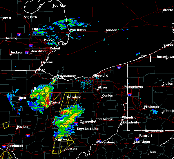 Radar Image for Severe Thunderstorms near Chatfield, OH at 4/14/2019 4:22 PM EDT