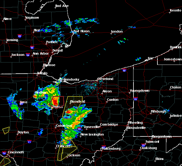 Radar Image for Severe Thunderstorms near Chatfield, OH at 4/14/2019 4:26 PM EDT