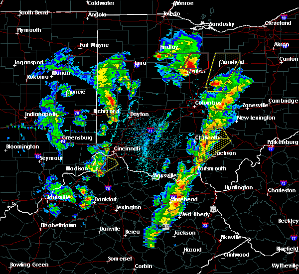 Radar Image for Severe Thunderstorms near Stockdale, OH at 4/14/2019 4:26 PM EDT