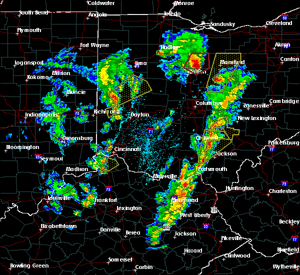 Radar Image for Severe Thunderstorms near Lockington, OH at 4/14/2019 4:29 PM EDT
