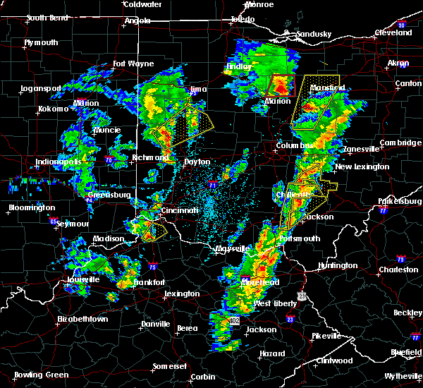 Radar Image for Severe Thunderstorms near Logan, OH at 4/14/2019 4:32 PM EDT