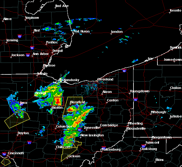 Radar Image for Severe Thunderstorms near Chatfield, OH at 4/14/2019 4:35 PM EDT