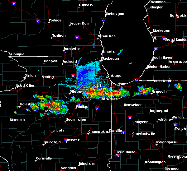 Radar Image for Severe Thunderstorms near Minooka, IL at 6/10/2015 7:48 PM CDT