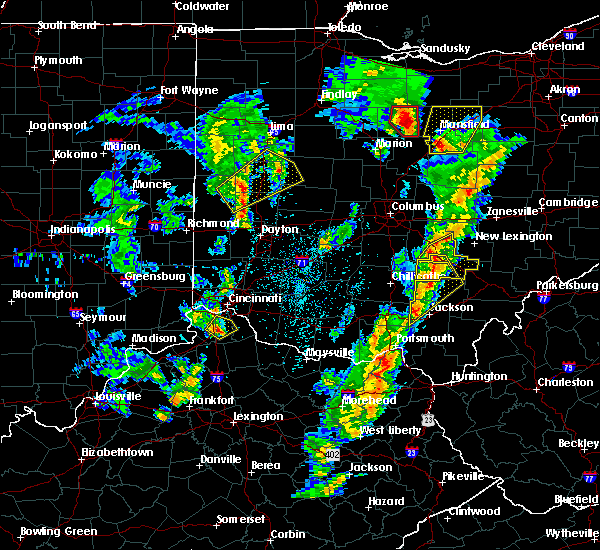 Radar Image for Severe Thunderstorms near Logan, OH at 4/14/2019 4:38 PM EDT