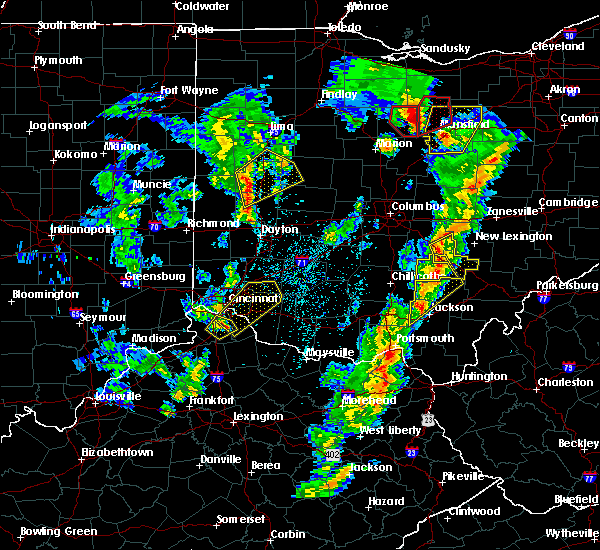 Radar Image for Severe Thunderstorms near Cincinnati, OH at 4/14/2019 4:41 PM EDT