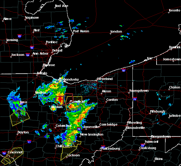 Radar Image for Severe Thunderstorms near Tiro, OH at 4/14/2019 4:44 PM EDT
