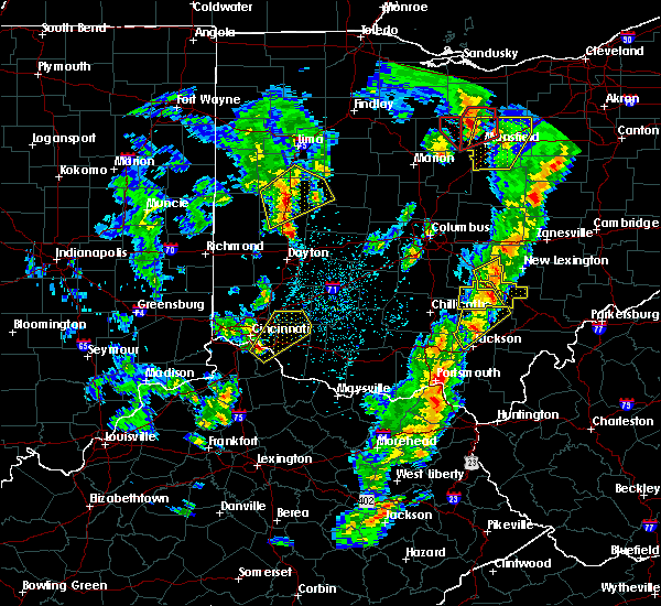 Radar Image for Severe Thunderstorms near Cincinnati, OH at 4/14/2019 4:48 PM EDT