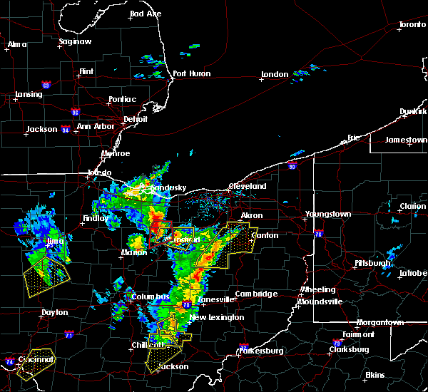 Radar Image for Severe Thunderstorms near Massillon, OH at 4/14/2019 4:51 PM EDT