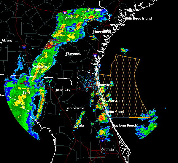 Radar Image for Severe Thunderstorms near St. Augustine South, FL at 4/14/2019 4:54 PM EDT
