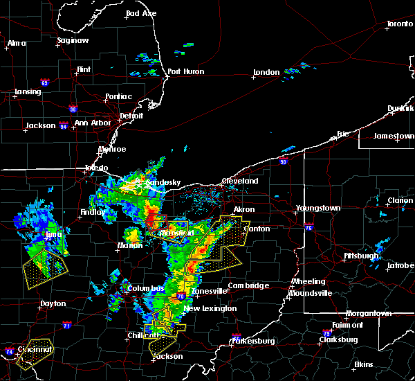 Radar Image for Severe Thunderstorms near Mansfield, OH at 4/14/2019 4:54 PM EDT
