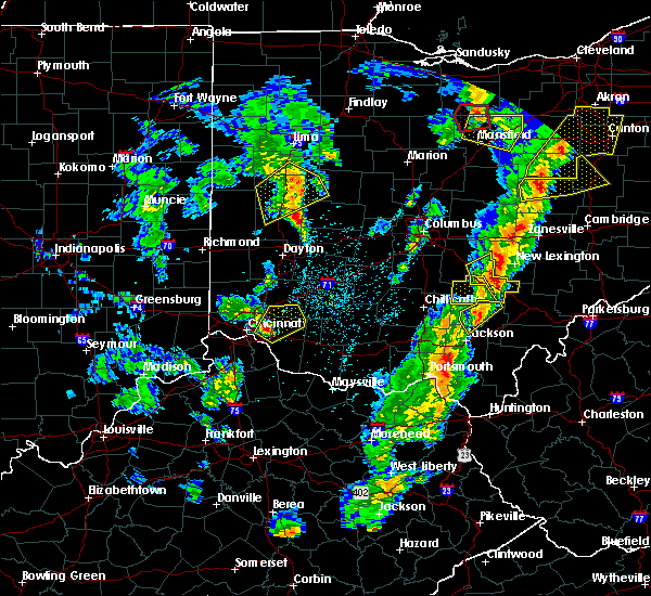 Radar Image for Severe Thunderstorms near Pleasant Plain, OH at 4/14/2019 4:57 PM EDT