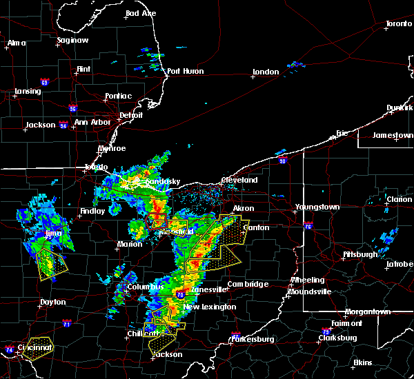 Radar Image for Severe Thunderstorms near Tuscarawas, OH at 4/14/2019 4:57 PM EDT