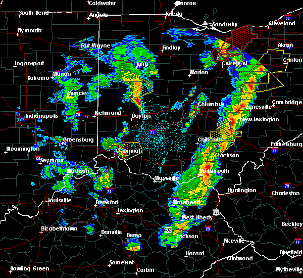 Radar Image for Severe Thunderstorms near Sidney, OH at 4/14/2019 5:01 PM EDT