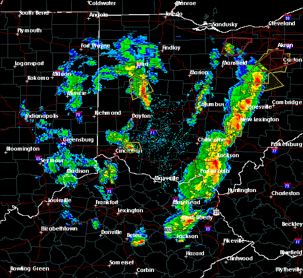 Radar Image for Severe Thunderstorms near Logan, OH at 4/14/2019 5:08 PM EDT