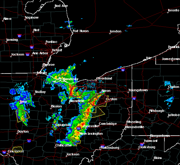 Radar Image for Severe Thunderstorms near North Lawrence, OH at 4/14/2019 5:08 PM EDT